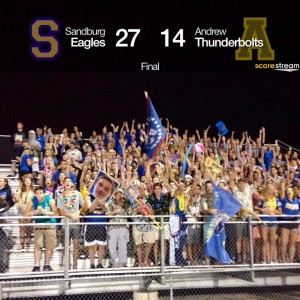 Sandburg Eagles fans 9-5
