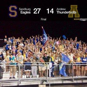 Sandburg Eagles fans 9-5