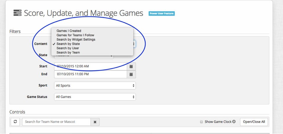 gameManager-search for games