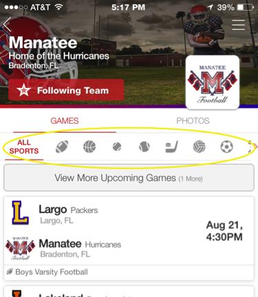 app-findgames sports
